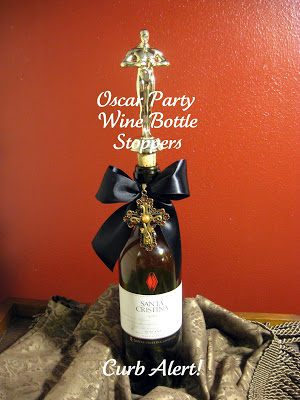 Oscar Party DIY Wine Bottle Stoppers via Curb Alert! blog http://tamicurbalert.blogspot.com