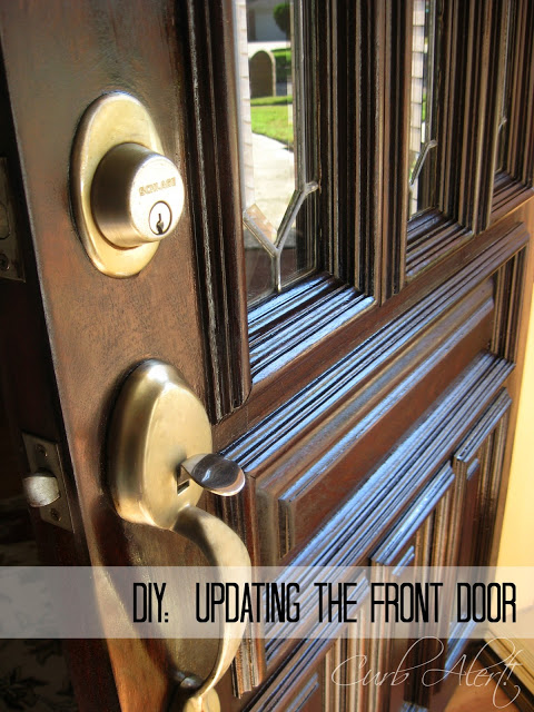 Curb Alert! Front Door Refinishing