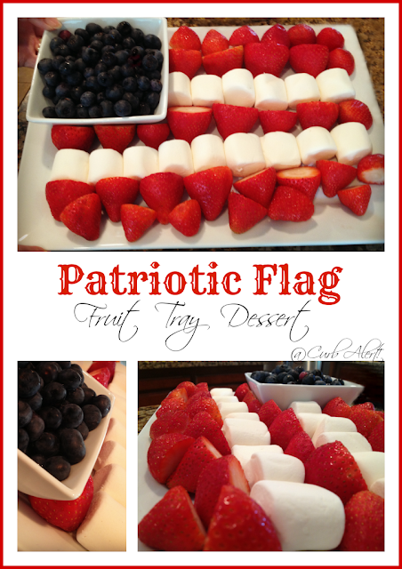 Curb Alert! Patriotic Flag Fruit Tray Dessert