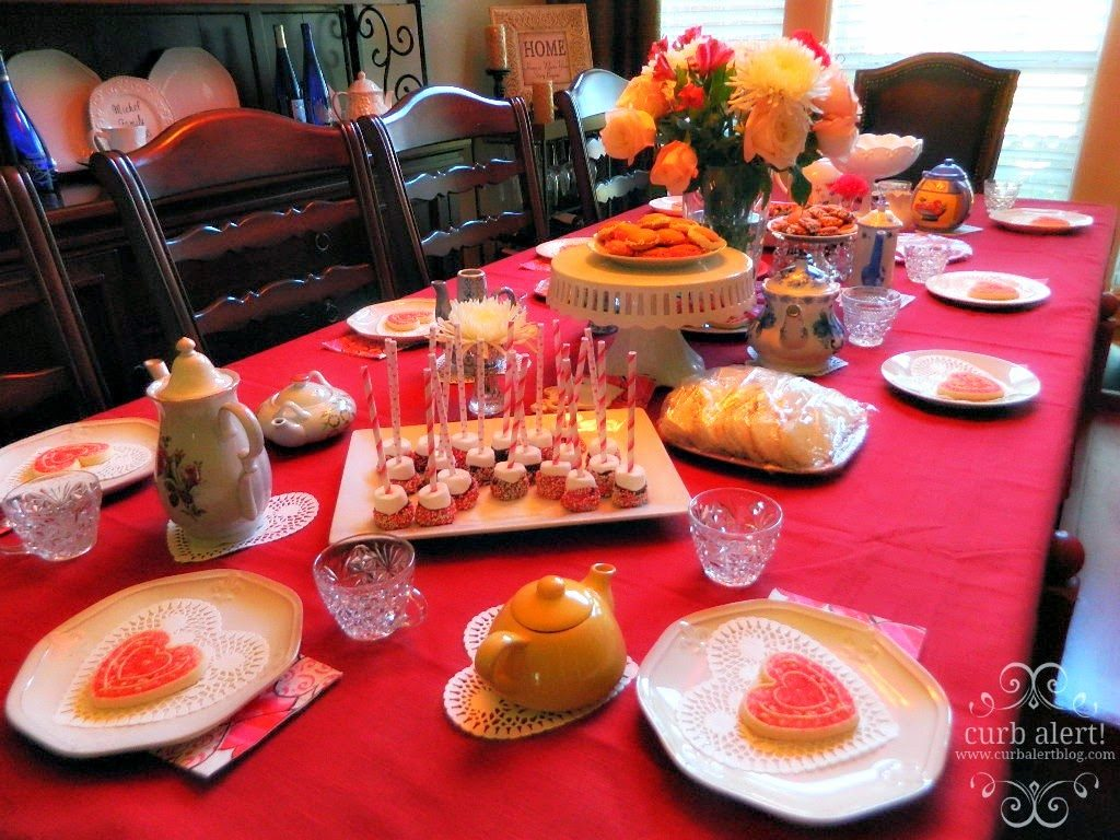 Tea Party Pink and Red Table Ideas for Little Girls via Curb Alert! Blog https://www.curbalertblog.com/2014/03/tea-party-ideas-for-little-girls.html