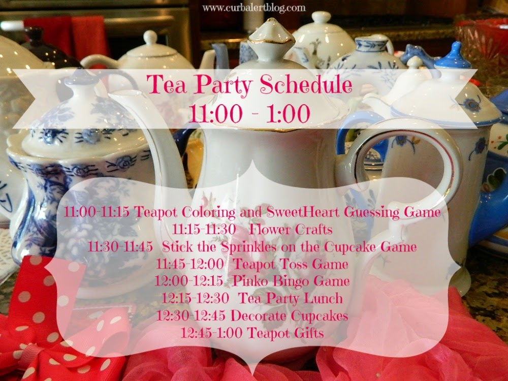 Tea Party Game Schedule Ideas for Little Girls via Curb Alert! Blog https://www.curbalertblog.com/2014/03/tea-party-ideas-for-little-girls.html
