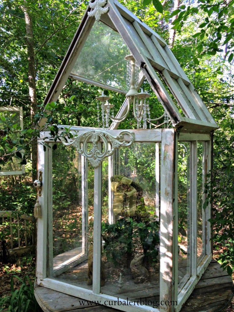Welcome to Our Woods! antique window terrarium via Curb Alert! www.curbalertblog.com