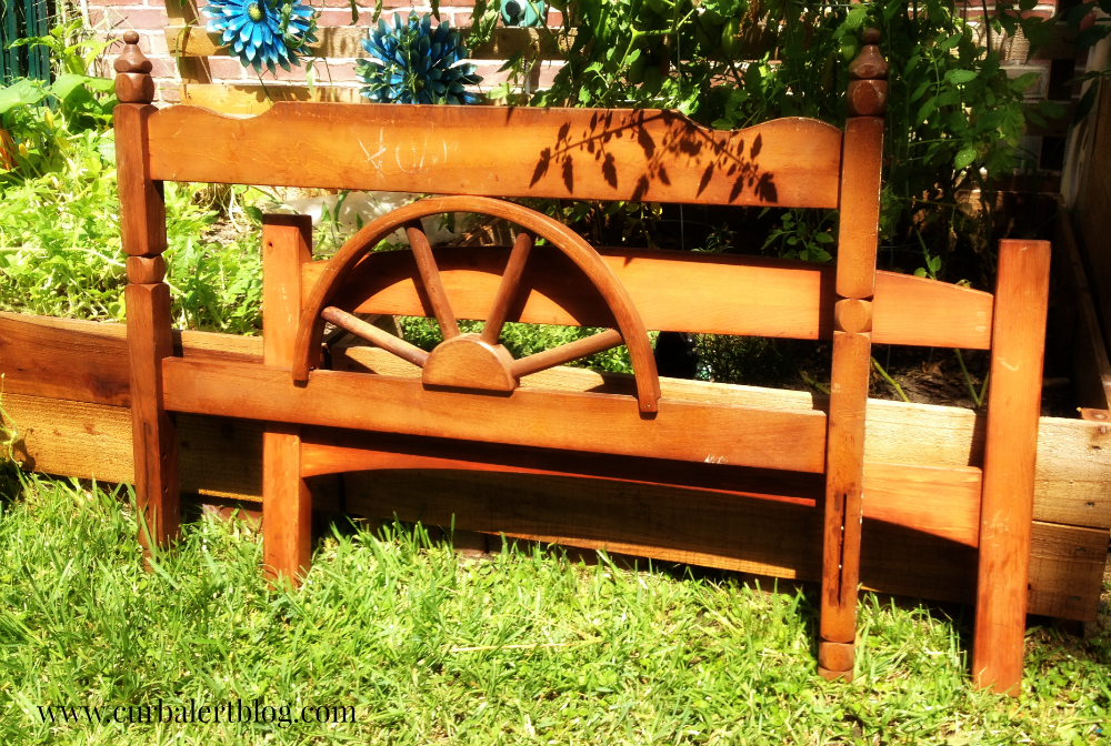 Nautical Beachy or Western Rustic Headboard Bench Makeover (the before!) with Annie Sloan Chalk Paint and Minwax Stain via Curb Alert! http://www.curbalertblog.com