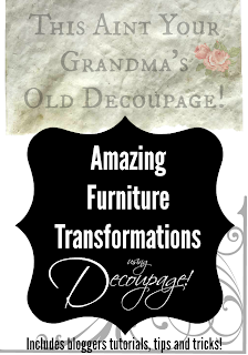 Check out an exciting 18+ Blogger Event of Decoupage Furniture in our Monthly Themed Furniture Series. Head over and take a look! Lots of tutorials and great ideas! http://www.curbalertblog.com/2014/08/back-to-school-little-red-school-desk.html