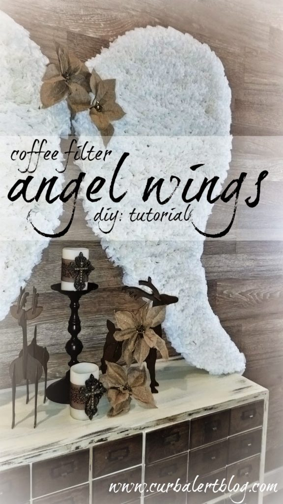 Coffee Filter Angel Wings Tutorial via Curb Alert! Blog