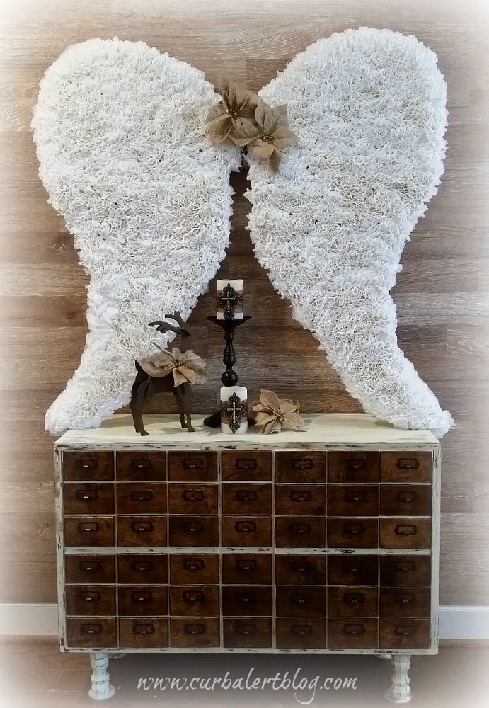 Coffee Filter Angel Wings and Card Catalog Tutorial via Curb Alert! Blog