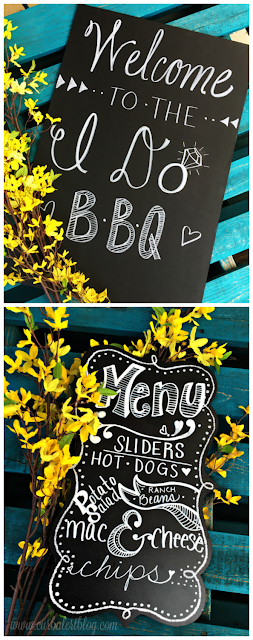 Welcome to the I Do BBQ Outdoor Games& Menu Wedding Sign