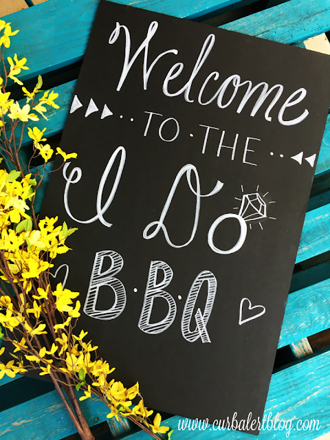 Welcome to the I Do BBQ Wedding Sign